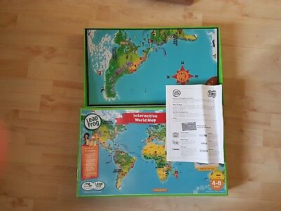 Leapfrog leapreader activity discovery book interactive human body leapfrog tag interactive world map in box with instructions yrs4 8 sciox Choice Image