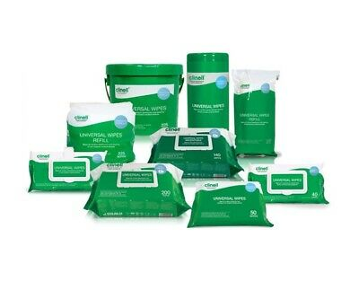 Clinell Universal Wipes Range, Hand & Surface Sanitising, Disinfectant Wipes