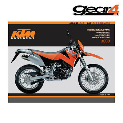 Ktm Oem Owners Manual Lc4 400/640 Lc4-E / Supermoto 2000 75% Off 320582