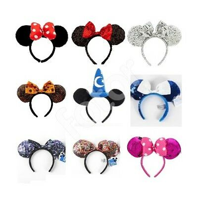 BRAND NEW WITH TAGS Minnie Mouse Ears Headband Disney Land World Sorcerer Mickey