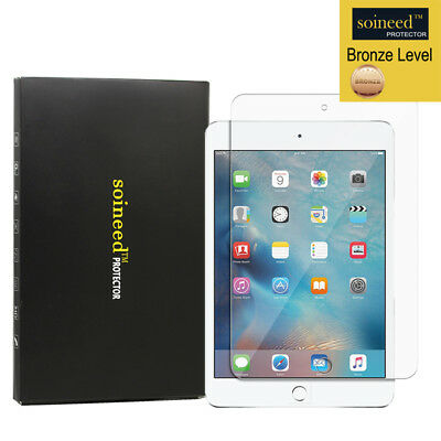 [1-Pack] SOINEED Apple iPad Mini 4 Tempered Glass Screen Protector Shield Saver