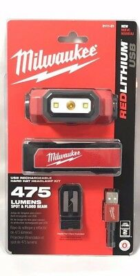 Milwaukee 2111-21 USB Rechargeable Hard Hat Headlamp - Free Priority Shipping