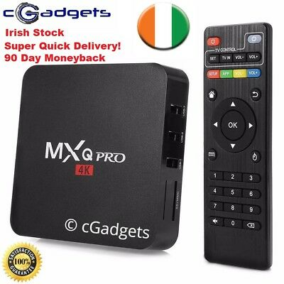 MXQ PRO - JUNE 2018 - Android 7.1 Box 4K Quad SMART TV BOX Streamer KODI