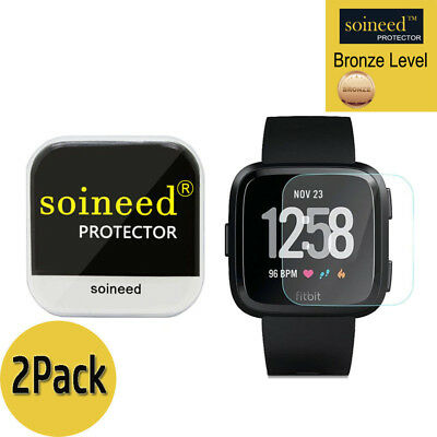 [2-PACK] SOINEED Tempered Glass Screen Protector Film For Fitbit Versa Watch