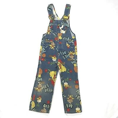 Vintage Liberty Hee Haw Overalls Pants Youth Size 4 Made In USA