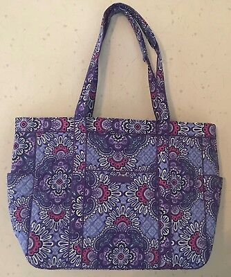New Nwt Vera Bradley Lilac Tapestry Get Carried Away Tote 15673-669 Travel Xl
