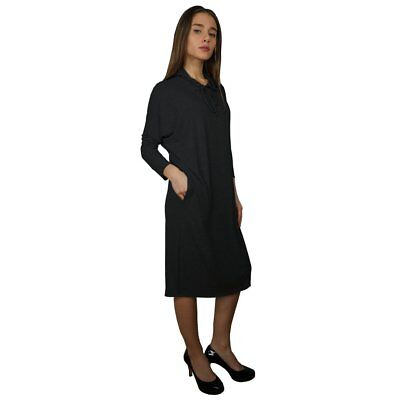 Baby'O Women's Ribbed Knit Hoodie Comfy Dress