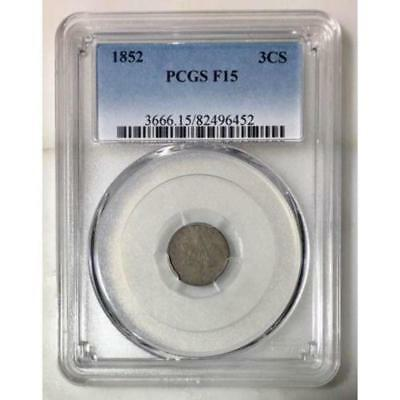 1852 Three Cent Silver PCGS F15 #645249