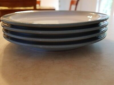 """4 DENBY BLUE JETTY~Salad/ Bread and Butter Plates 7-1/4"""""""