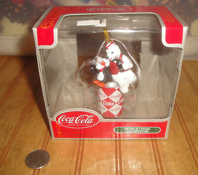 Coca Cola Trim a Tree Series Collection Ornament Diet Coke Penguin Polar Bear