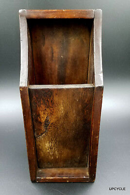 Antique Early American Primitive Walnut U0026 Pine Wood Candle Holder Box
