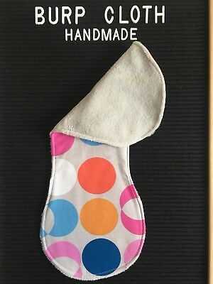 Burp Cloth. Handmade. Reusable. Cotton. Fleece. Pink. Blue. Orange. White. Grey.