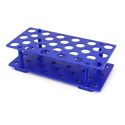 Laboratory Plastic 28 Hole 17mm Dia 15ML Centrifugal Test Tube Rack Holder P4Y2