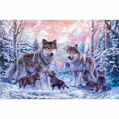 5D DIY full drill Diamond Painting Embroidery Wolf family Cross Stitch Diam Z8U9