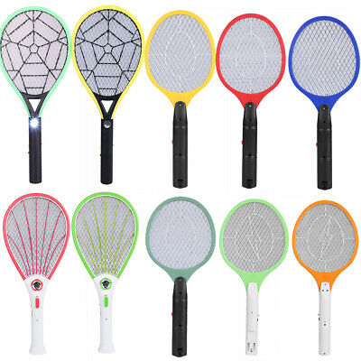 Rechargeable/Battery Power Fly Mosquito Swatter Bug Zapper Racket Insects Killer
