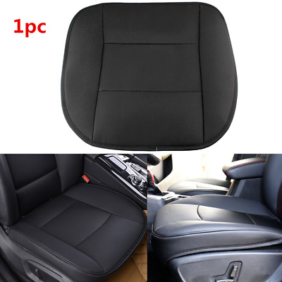 Universal PU Leather Deluxe Car Cover Seat Protector Cushion Black Front Cover