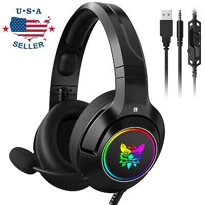 Wireless Gaming Headset for Xbox One PC PS4 With Mic LED and Volume Control USA