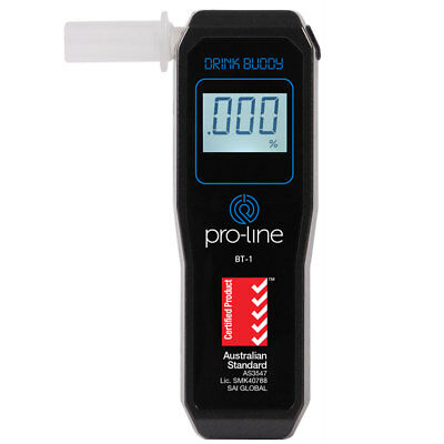 ProLine BT1 Drink Buddy Personal Breathalyser with Fuel Cell Certified to AS3547