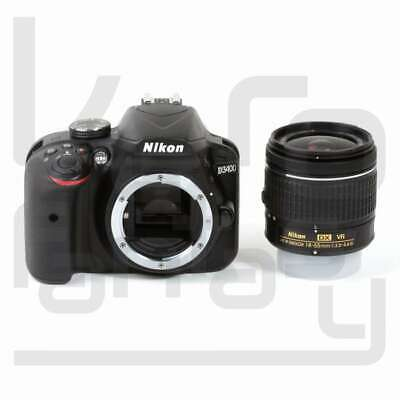 Genuino Nikon D3400 Digital SLR Camera + AF-P 18-55mm f/3.5-5.6G VR Lens