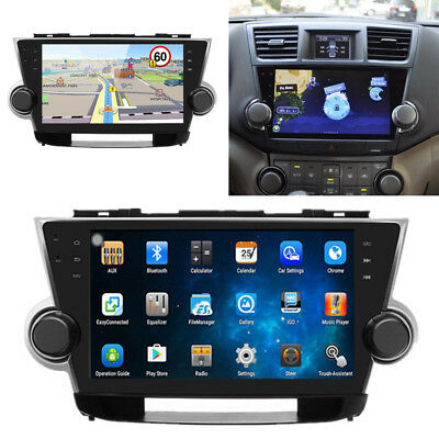 HD Android Car Radio Player Kit GPS Navigation for Toyota Highlander 2010-2013