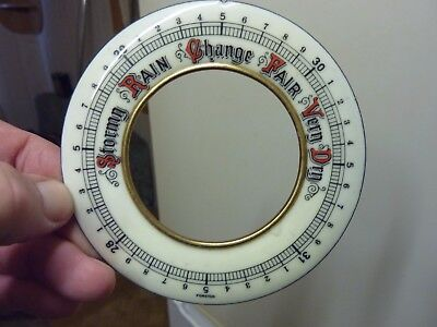 "Good Aneroid Barometer 4 1/2"" Enamel Dial (A)"
