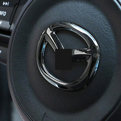 Fit for Mazda3 MAZDA6 CX-5 CX-3 Stainless Steel Steering Wheel Center Cover Trim