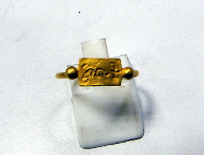 vintage antique 24 K solid gold ring byzantine 9457