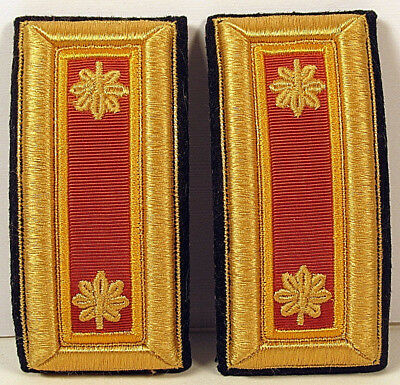 US Army Major MAJ Ordnance Male Shoulder Boards Straps for Dress Blues Uniform