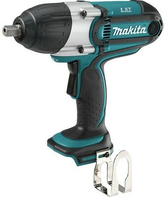 Makita Impact Wrench 18 Volt Lithium-Ion 1/2 In Cordless High Torque Soft Grip