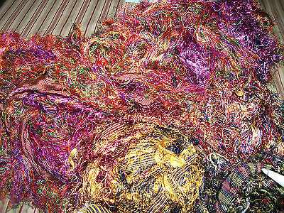 Multi Colours of Silk Selvedge for Weaving, Knitting or  Craft