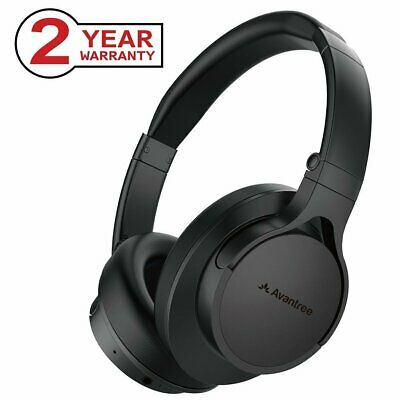 Avantree Comfortable Bluetooth Over Ear Headphones with Mic, Foldable Wireless /