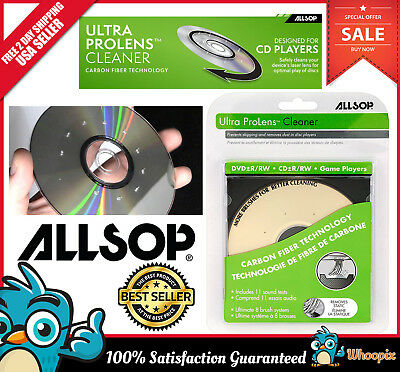 CD DVD Drive Cleaner Laser Lens Game Player Disc Cleaning Kit Carbon Fiber Brush