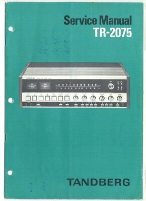 "Tandberg Service Manual ""Model TR-2075 Stereo Receiver"" w/ Schematics"