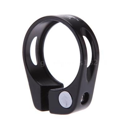 Road Bike MTB Seat Post Clamp Seatpost Clamp Quick Release QR 31.8mm Black G6F3