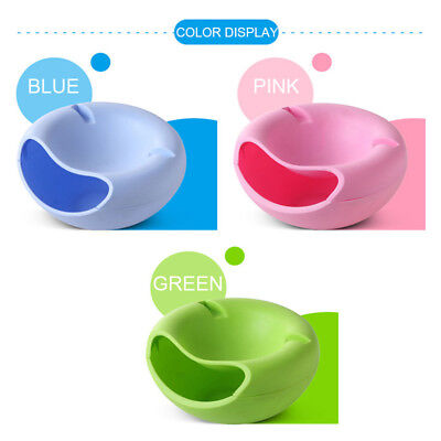 Double Layer Plastic Snack Fruit Plate Bowl Dish Phone Holder Home Lazy Tools