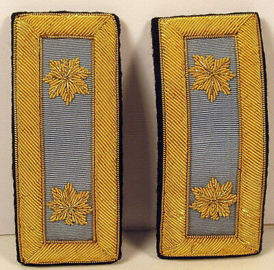 US Army Major MAJ Infantry Male Bullion Shoulder Straps Boards for Dress Blues
