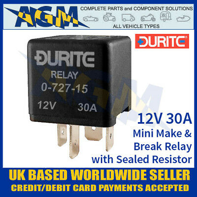 durite 0 726 24 24v volt 15a amp 4 pin make break fused mini lm311 dual voltage relay driver output