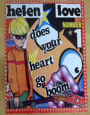 HELEN LOVE Does Your Heart Go Boom - Promo Postcard/Flyer - UK Indie/Punk - RARE