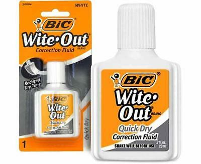 BIC Wite-Out Quick Dry Correction Fluid, 0.7 oz