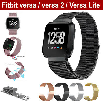Fitbit Versa Lite Magnetic Replacement Milanese Band Mesh Wrist Strap Wristband
