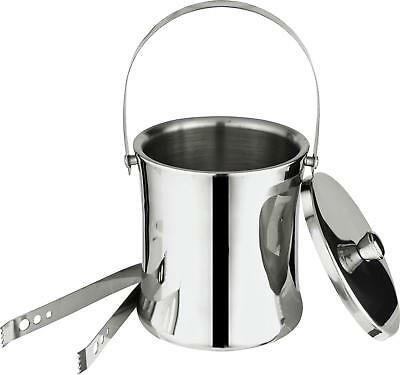 Ice Bucket With Tongs Champagne Wine Beer Bottle Cooler Party Drinks Metal New