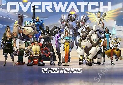 Overwatch A3 Poster Free Postage