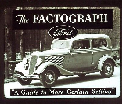 1934 Ford Factograph Filmstrip Transferred to DVD