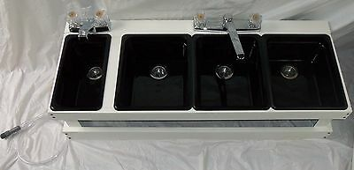 Portable Sink Mobile Concession, 4 Compartment Sink, Table Top Sink B1S3M