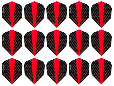 5 New Sets Harrows Nylon Fabric 160 Micron Kite Dart Flights Red Flame