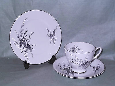 Vintage Royal Standard Giselle Bone China Trio Tea Cup, Saucer & Side Plate 2565