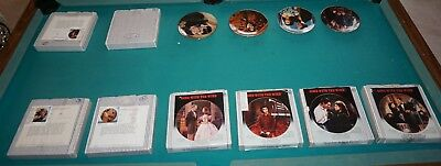 """Gone With The Wind Decorative Plates Lot Of 12 Bradford Exchange 9"""" Excellent!"""