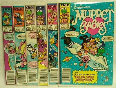 Lot of 6 Muppet Babies Star Comics #2 4 5 6 9 13 G-VG