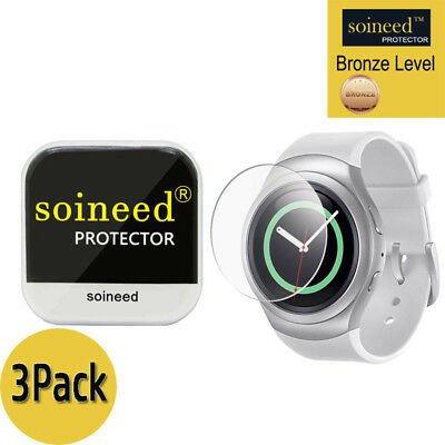[3-PACK] SOINEED Tempered Glass Screen Protector For Samsung Gear S2 R730