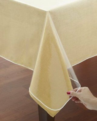 1PC VERSATIL HEAVY DUTY KITCHEN TABLE TOP CLEAR//TRANSPARENT TABLECLOTH COVER